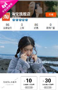编号:1045雪花飘飘-文艺复古风服装、鞋包、饰品等行业通用手机无线端模版