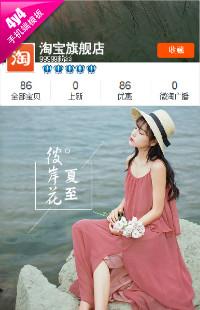 编号:1363乐享夏日-女装配件、鞋包等行业通用无线端模板