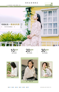 A-487-0最美的风景-文艺女装类等女装行业专用旺铺专业版模板