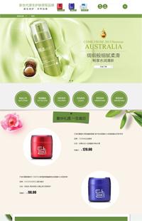 A-111-4绿色春天:日用洗护、化妆品、香水类行业专用旺铺专业版模板